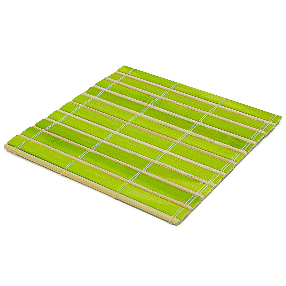 Набор чайных циновок (бамбук), ярко-зелёные, 10 х 10 см, 5 шт/упак набор чайных циновок бамбук красные двухцветные 10 х 10 см 5 шт упак