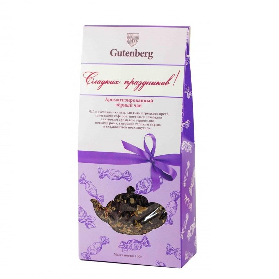 Чай чёрный Сладких праздников, 100 г pergale шоколад темный с кусочками клюквы 100 г