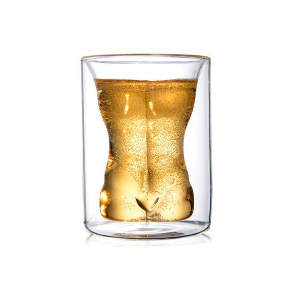 Фото - Стакан с двойными стенками Мужчина, 190 мл стакан cnglass набор стаканов с двойными стенками мужчина и женщина jb07002 5 jb07003 5 стекло