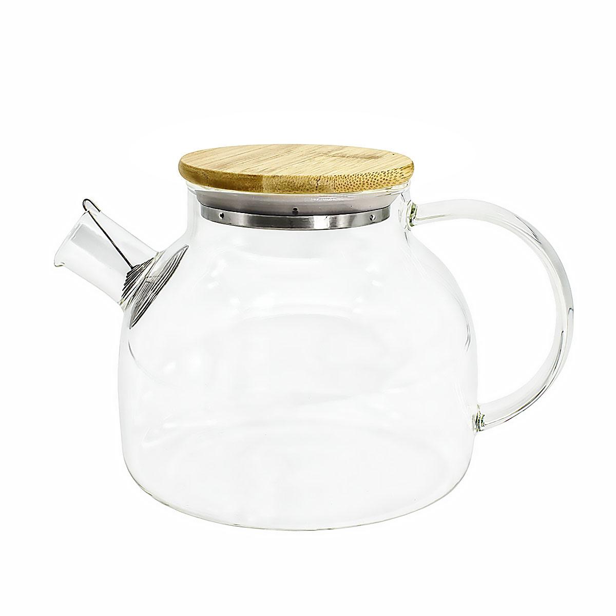 Чайник из жаропрочного стекла Бочонок, 500 мл чайник заварочный queen ruby с фильтром 500 мл qr 6039