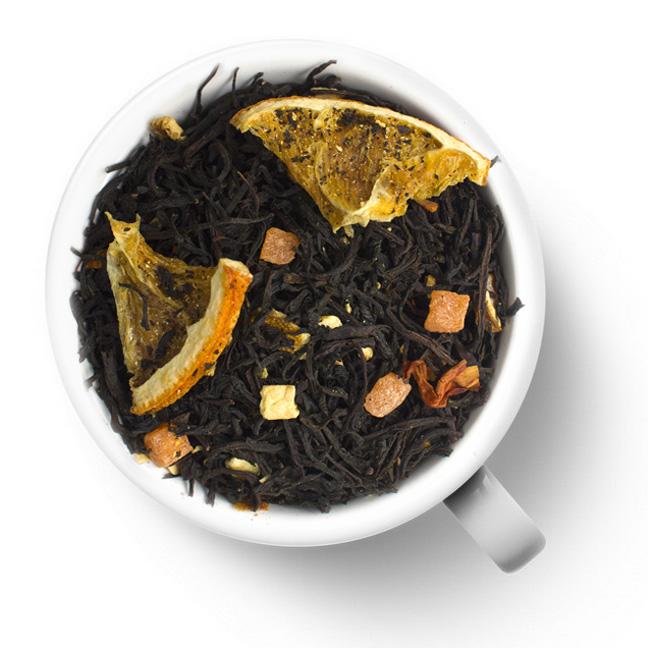 Черный чай Сладкий апельсинЧерный с добавками<br>Состав: чай черный ОР1, ананас, цедра апельсина, лилия, ароматизатор.<br>
