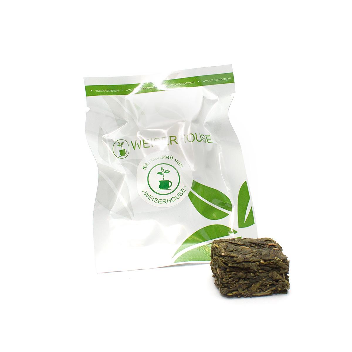 Зеленый чай Калмыцкий, прессованный в кубиках (5-7 гр.) в инд. упак.Зеленый<br>Качественный зеленый чай, спрессованный в кубик. Очень популярен в Калмыкии.<br>