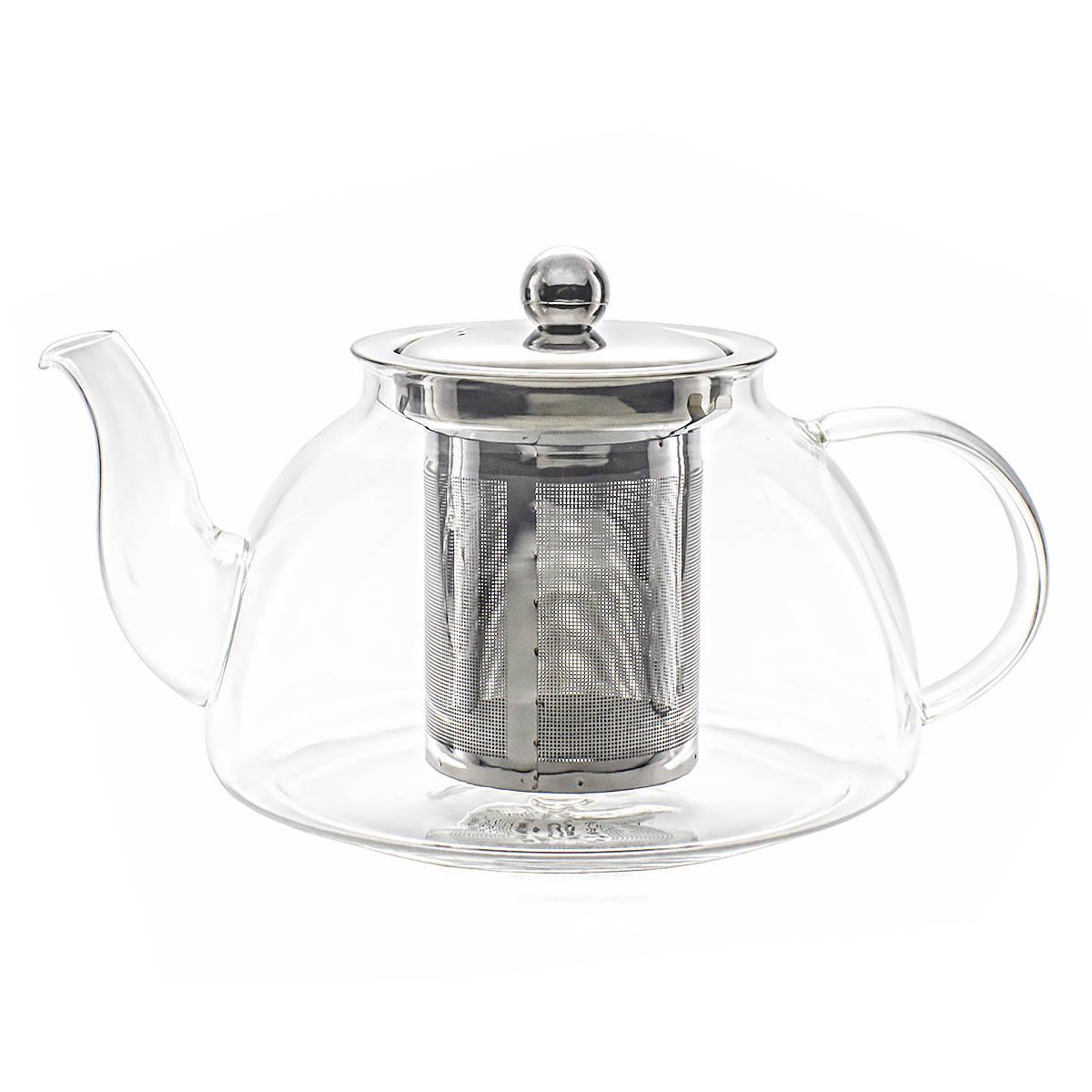 Стеклянный заварочный чайник Модерн 900 мл.