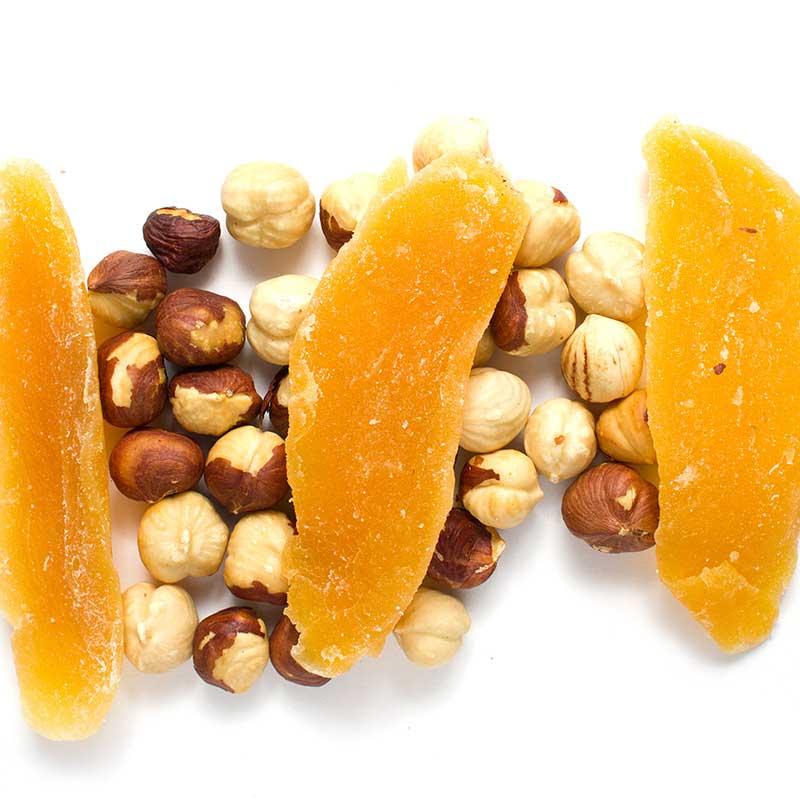 Фото - Фундук жареный с манго, 90 г миндаль жареный фрукторешки 135 г