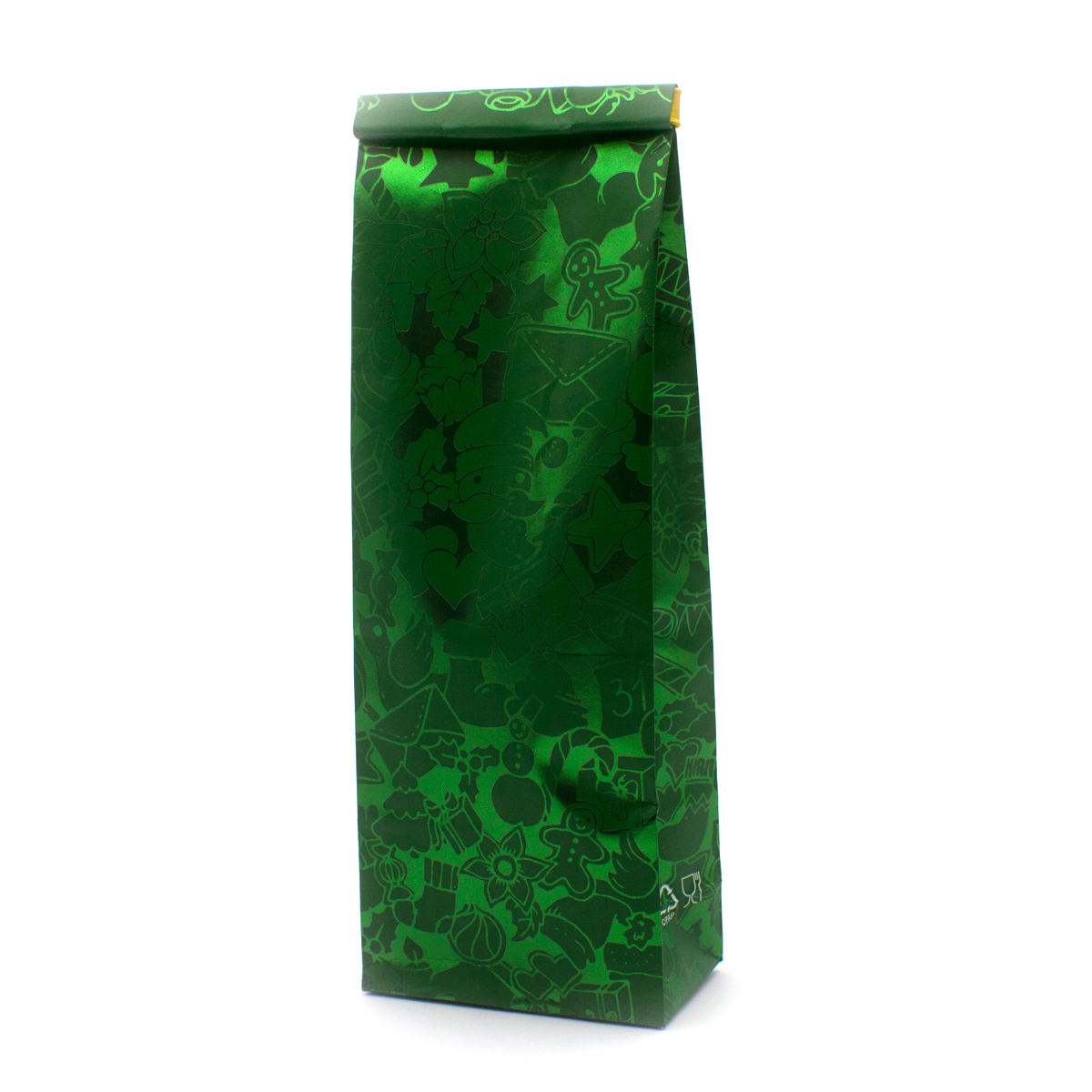 Пакет для чая 100 гр Новый год (20,5 х 7 см)