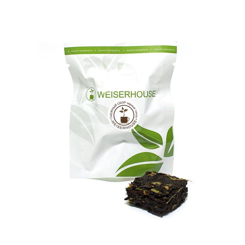 Чай черный Таежный сбор (черные типсы), прессованный в кубиках (5-7 гр.) в инд. упак.