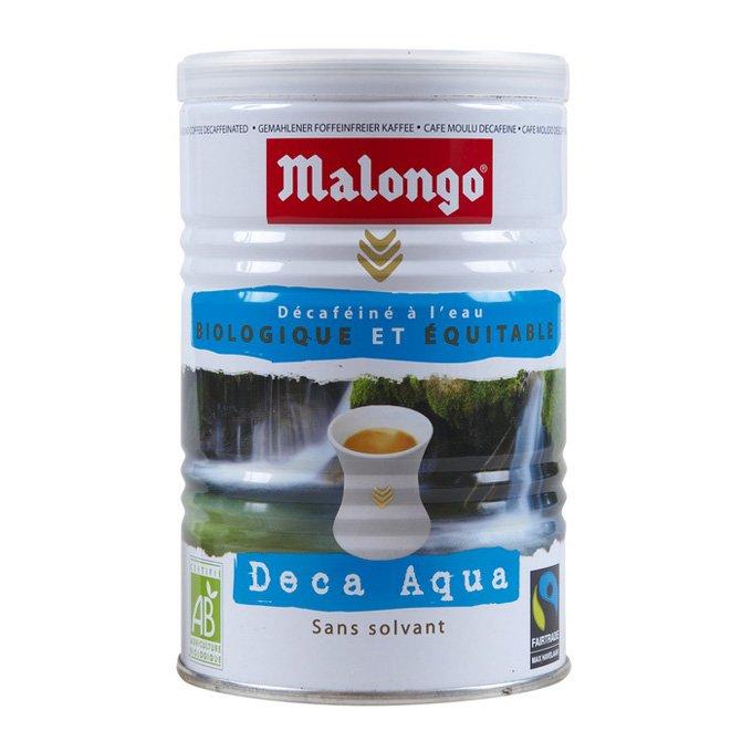 Кофе молотый Malongo Без кофеина, банка 250 г